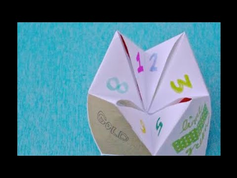 HOW TO MAKE A EYSY FORTUNE TELLER