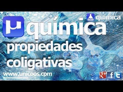 QUIMICA Ley de RAOULT - Presion de vapor - PROPIEDADES COLIGATIVAS -  unicoos