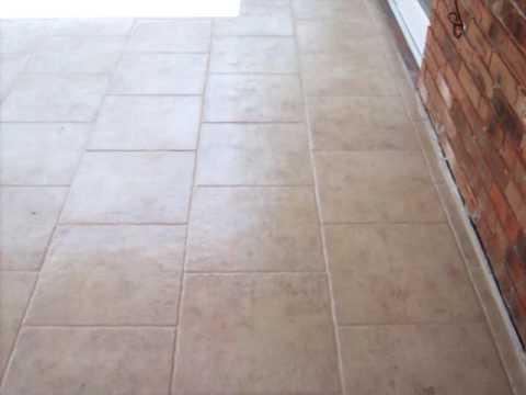 Tiled patio - YouTube