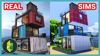 Stacked Shipping Containers! (Sims 4 House Build)