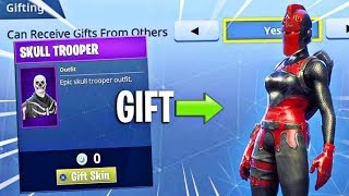 GIFTING Skins on Fortnite!?!