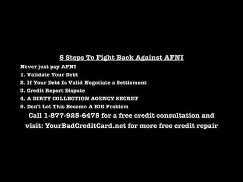 Afni Inc Debt Collection Agency - 5 Steps To Fight Back