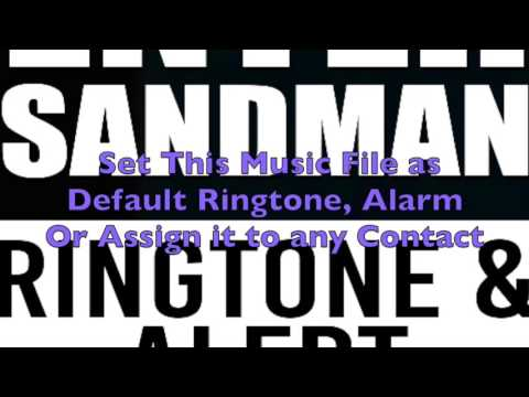 Metallica - Enter Sandman Ringtone and Alert