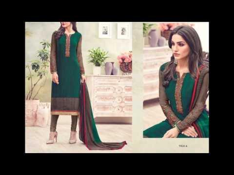 Surat Textile Bazaar Present Crape Suit Collection || Designer dresses