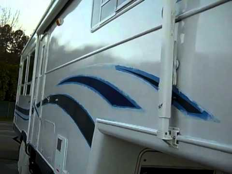 Rustoleum 50 Rv Paint Job Right Side Completed Pt 4 Youtube