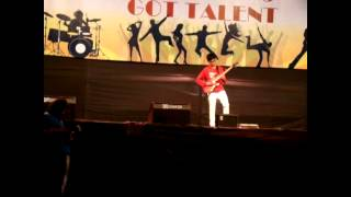 Amazing 16 Year Old Indian Guitarist - solo rock versions live