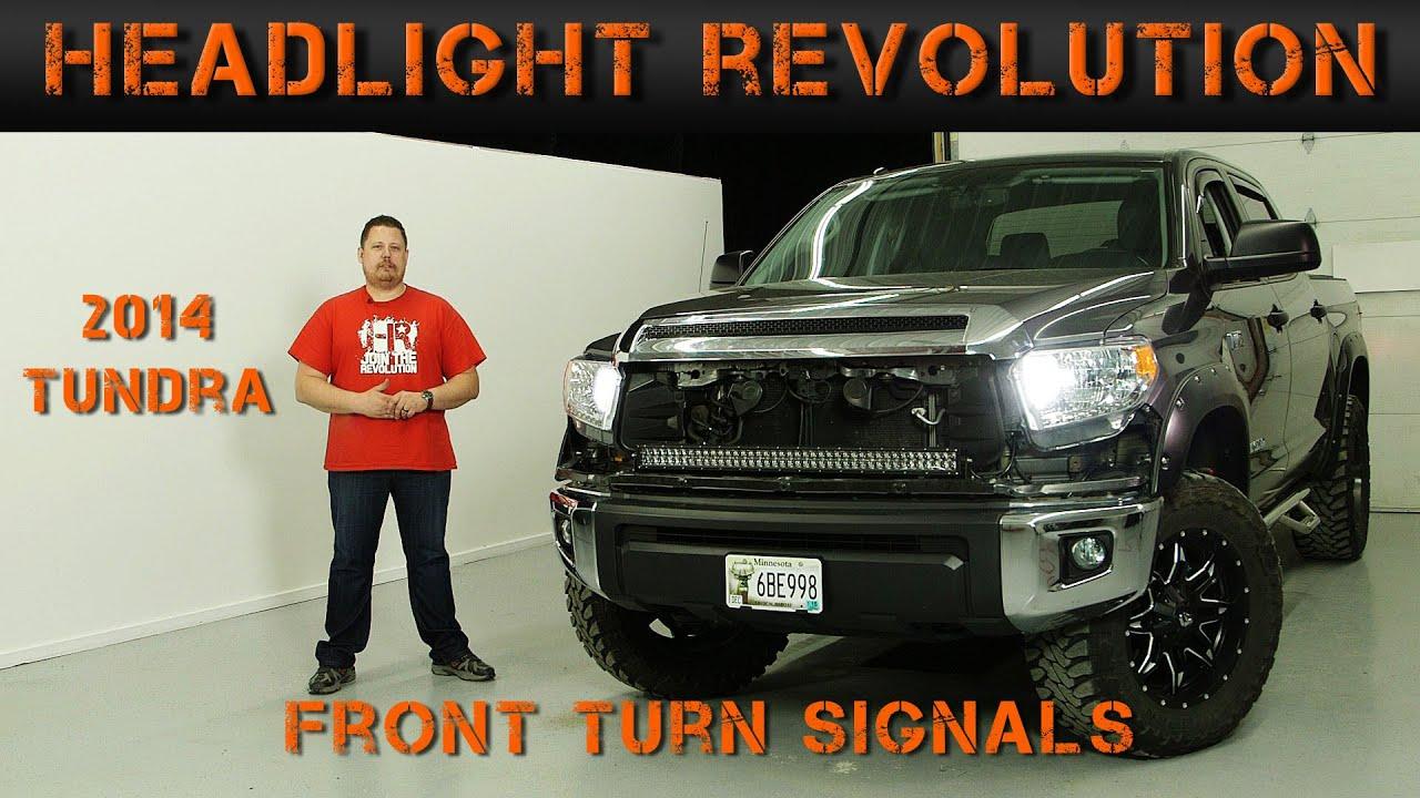 medium resolution of 2014 2017 toyota tundra front turn signals tundra video series headlight revolution