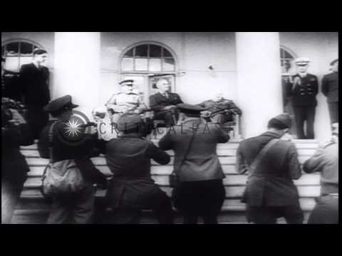 Allied leaders attend the Cairo Conference and the Tehran Conference in the Middl...HD Stock Footage