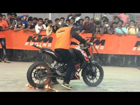 Ktm stunt show at MS U vadodara