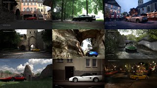 gran Turismo 5 Prologue - all showcase locations (main menu background)
