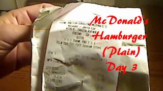 Fast Food Is Not Food - McDonalds Hamburger Day 3 (Decomposition Test)