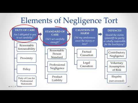 BBA Business Law: Module 4B,  Part A - Negligence Torts & Professional Liability