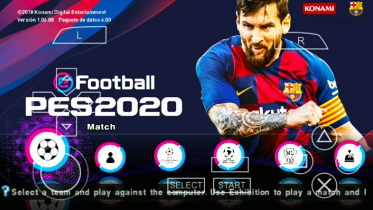 Repeat PES 2020 PPSSPP Android V8 English Version MOD PS4