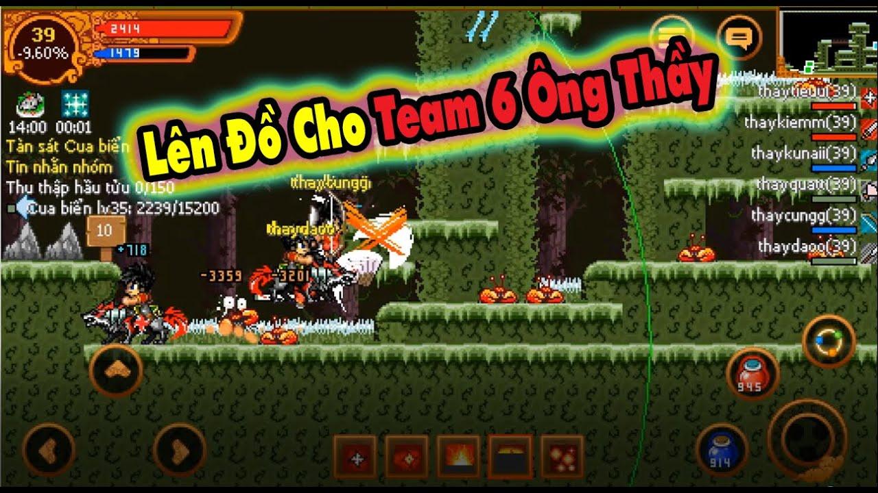 Ninja School Online : Vất Vả Lên Đồ Cho Team 6 Ông Thầy !!