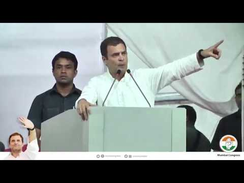 Congress President Rahul Gandhi addresses public meeting in Mumbai, Maharashtra