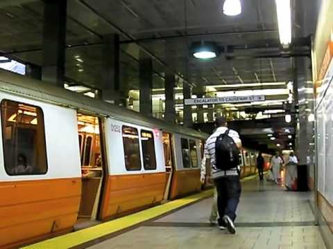 MBTA Orange Line Trains in  North Station
