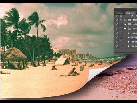 Adobe Photoshop CS6. Создание эффекта перевернутой страницы. Макрос Page Curl.