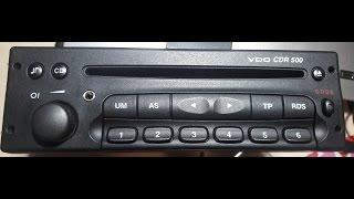 AUX у штатну магнітолу Опель - VDO CDR500.