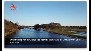 Vilsteren/Ommen: Overstroming Overijsselse Vecht 7 jan. 2018