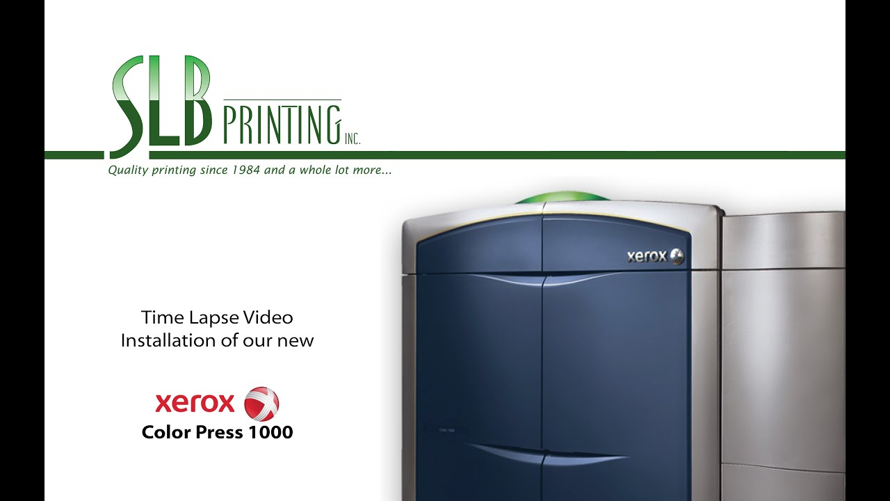 Color press printing - Xerox Color Press 1000 Installation At Slb Printing Los Angeles Time Lapse Gopro