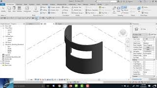 how to make opening in a curvature wall in revit ?