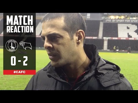 POST-MATCH: Guy Luzon reflects on Derby showing - Charlton Athletic