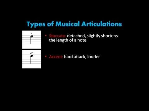 Music Theory | 2.2 Musical Articulations