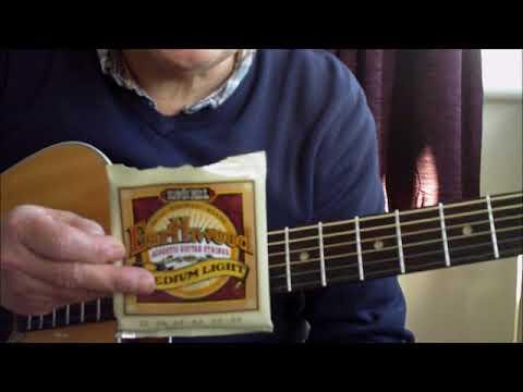 ernie ball earthwood medium light strings for acoustic guitar comparison youtube. Black Bedroom Furniture Sets. Home Design Ideas