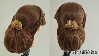 Beautiful Long Hair Hairstyle For Party || updo tutorial ||