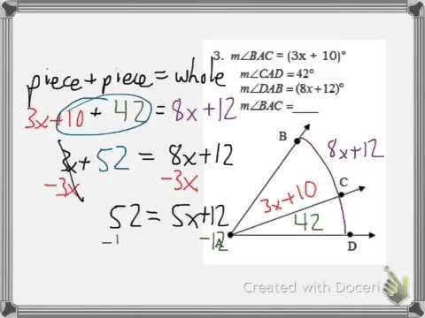Geometry Video 1-3: Angle Addition Postulate And Angle Bisectors