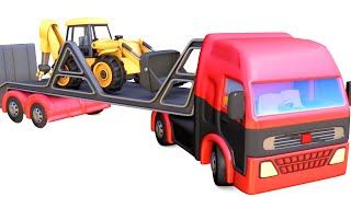 Heavy load trucks toys for kids | Excavators, Dump Trucks, Fire trucks compilation tayo - jugnu kids