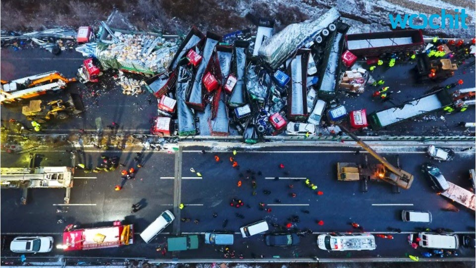 A Massive Car Pile Up In China Kills 17 People
