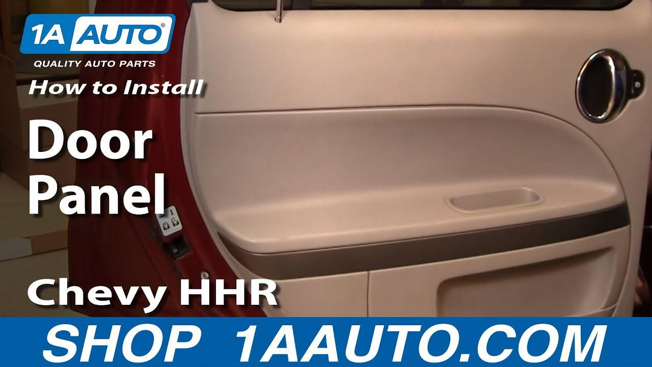 hight resolution of how to install replace rear door panel chevy hhr 06 10 1aauto com