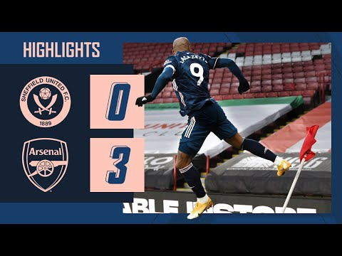 HIGHLIGHTS | Sheffield United vs Arsenal (0-3) | Premier League | Lacazette, Martinelli