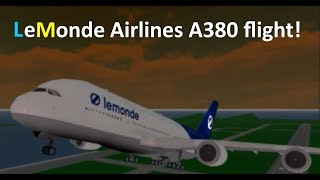 Flight with LeMonde Airbus A380! [ROBLOX]