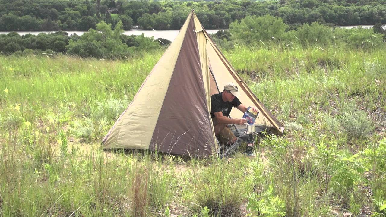 & Guide Gear Backpacking Teepee Tent - YouTube