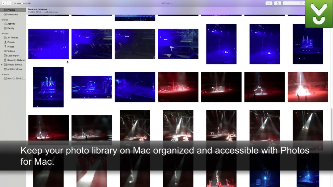 how to open iphoto library in mac