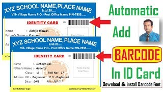 Automatic Placing Student Photographs In School Id Cards Using Macro