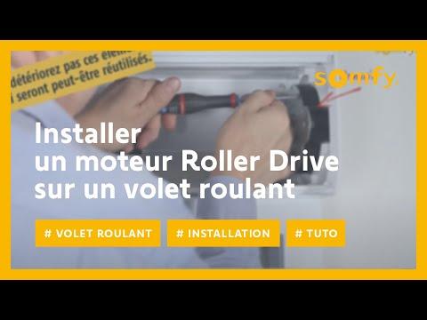 Montage Moteur Volet Roulant.Installer Un Moteur Roller Drive Pour Volet Roulant Avec