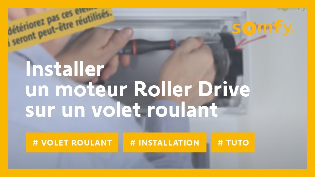 installer un moteur roller drive pour volet roulant avec somfy youtube. Black Bedroom Furniture Sets. Home Design Ideas