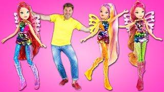 Клуб Винкс ( Winx ) в Шоу Play Рой! Секретные миры феи КУКЛЫ ВИНКС! Распаковка игрушек
