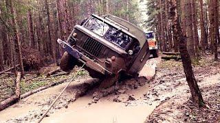 ГАЗ - 66 | Pinzgauer 6x6 | Cherokee | Defender | Mercedes | OFF - ROAD Часть 2 - БИТВА ГРУЗОВИКОВ