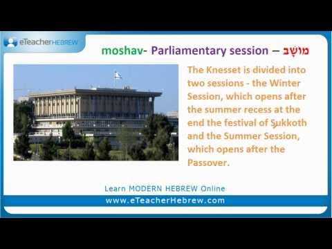 Where is the Israeli parliament? | Modern Hebrew Q&A with eTeacherHebrew