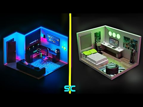 small gaming room setup idea 👌2020  / for small rooms -3D design part 7