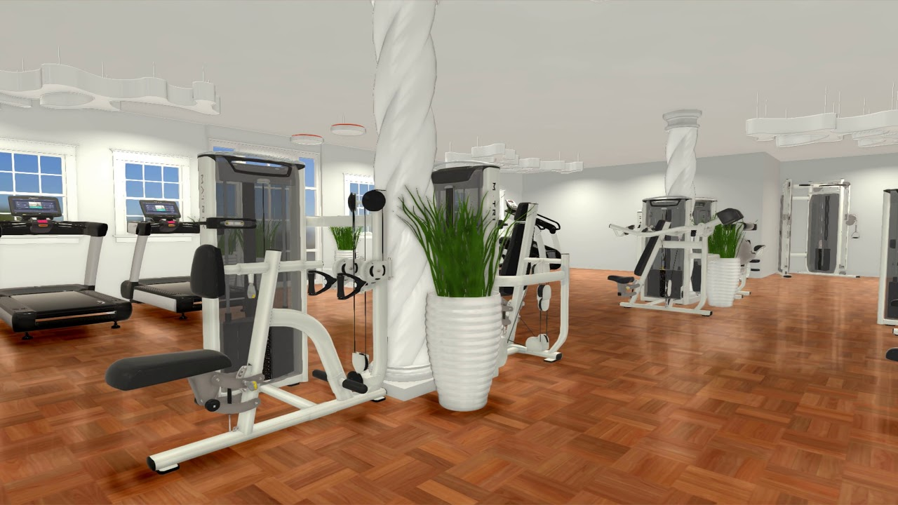 Gym room design with modern lights youtube