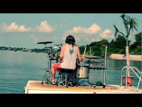 JOEY MUHA - Surfin' USA Drum Remix Filmed on Lake Erie