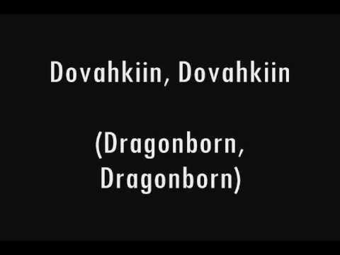 TES V - Skyrim - Main Theme Sing Along! Dragon Tongue and English Lyrics