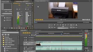 Запись через микрофон в Adobe Premiere Pro