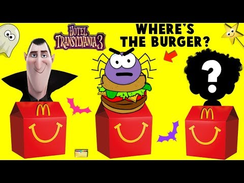 Toy Hotel Transylvania 3 HAPPY MEAL GAME w/ Monster Burger + Surprise Toys  