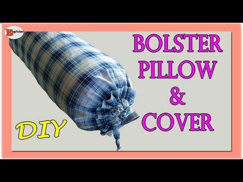 BOLSTER PILLOW MAKING | HOW TO MAKE BOLSTER PILLOW AT HOME | BOLSTER PILLOW TUTORIAL